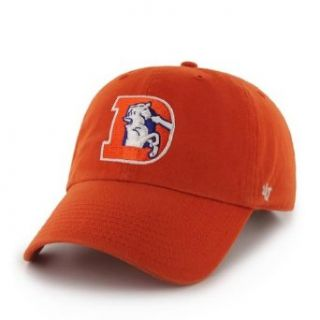 NFL Denver Broncos '47 Brand Clean Up Adjustable Hat (1993 Logo), Orange, One Size  Baseball Caps  Sports & Outdoors
