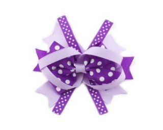 Baby Girl Polka Dot Ribbon Hair Band Hair Bows Clips Accessory Headband Purple  Infant And Toddler Hair Accessories  Baby