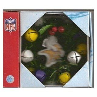 Minnesota Vikings Christmas Wreath Ornament  Sports Fan Hanging Ornaments  Sports & Outdoors