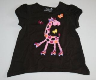 Jumping Beans Baby Girl's Roller Skating Giraffe Shirt (24 Months) Infant And Toddler T Shirts Clothing