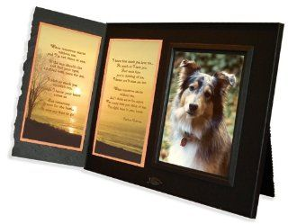 "Pet Lover Remembrance Gift, ""When Tomorrow Starts Without Me"" Poem, Memorial Pet Loss Picture Frame Keepsake and Sympathy Gift Package, Black with Foil Accent   Picture Frame Sets"
