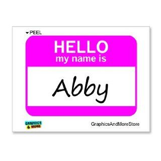 Hello My Name Is Abby   Window Bumper Laptop Sticker Automotive