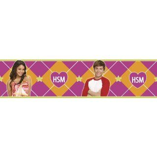 Blue Mountain Wallcoverings DS026452 High School Musical Self Stick Wall Border, 5 Inch by 15 Foot