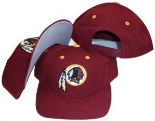 vintage retro NFL washington redskins burgundy red snapback hat cap  Sports Fan Baseball Caps  Clothing