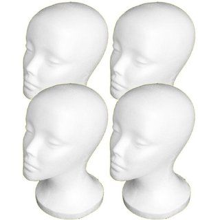"4PCs A1Pacific 11"" STYROFOAM FOAM MANNEQUIN MANIKIN head wig display hat glasses  Shower Caps  Beauty"