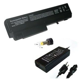 GSI High End Laptop Notebook Computer Battery And Charger Package Set   Includes 6 Cells 10.8v 4400mAh Battery, And 65W Watts AC Adapter Power Supply Charger Cord Plug   For Compaq NC6100, NC6105, NC6110, NC6115,NC6120, NC6200, NC6220, NC6230, NX6100, X610