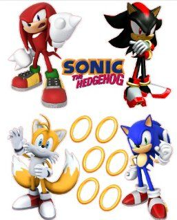 Sonic the Hedgehog Tails, Knuckles, and Shadow Removable Wall Stickers Set   Other Products