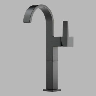 Brizo 65480LF BL Siderna Single Hole Bathroom Faucet, Matte Black   Vessel Sinks