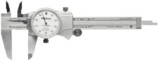 "Mitutoyo 505 675 56 Dial Caliper, Stainless Steel, Black Face, 0 6"" Range, +/ 0.001"" Accuracy, 0.001"" Resolution"