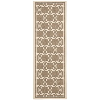 Safavieh Indoor/ Outdoor Courtyard Brown/ Bone Rug (2'4 x 12') Safavieh Runner Rugs