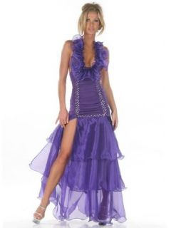 Sexy Rhinestone Organza Gown   SMALL Clothing