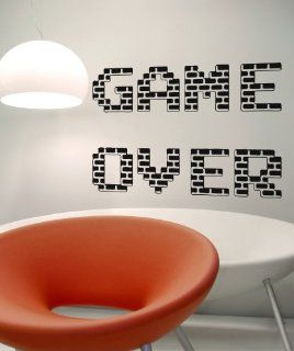 Vinyl Wall Decal Sticker Game Over OS_AA466m   Wall Decor Stickers