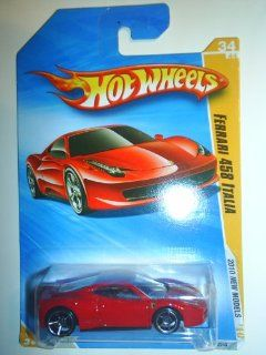 Hot Wheels 2010 Ferrari 458 Italia 034/240, '10 New Models 164 Scale Collectible Die Cast Car Toys & Games