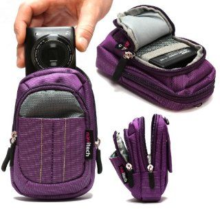 Navitech Purple Digital Camera Case Bag For The Nikon COOLPIX A / P7800 / P7700 / P520 / P330 / S9500 / S9400 / S6600 / S6500 / S5200 / S4400 / S3500 / S3400 / S2750/ S2700 / S800c / S31 / S02 / AW110 / AW110s / L620 / L320 / L28 / L27  Camera & Photo