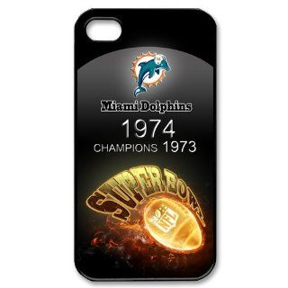 Best Iphone Case, Custom Case nfl Miami Dolphins Iphone 4/4s Case Cover New Design,top Iphone 4 Case Show 1l466 Cell Phones & Accessories