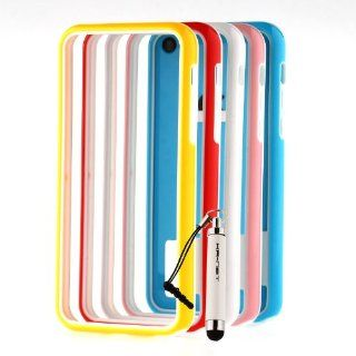 [Aftermarket Product] 5x Hard+Soft TPU Bumper Case Frame Protective Cover+Stylus for iPhone 5C Cell Phones & Accessories