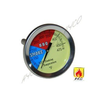 "2"" 475F BBQ CHARCOAL GRILL PIT WOOD SMOKER TEMP GAUGE THERMOMETER 2.5"" STEM SS RWB  Natural Gas Grill Parts  Patio, Lawn & Garden"