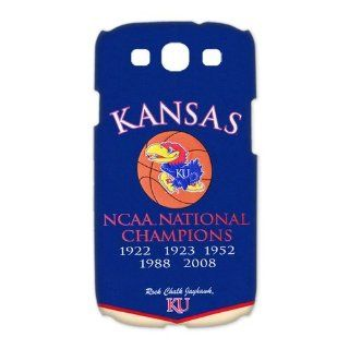 NCAA Kansas Jayhawks Champions Banner Cases Cover for Samsung Galaxy S3 I9300 Cell Phones & Accessories