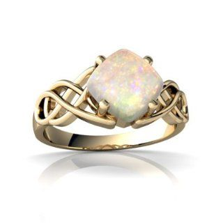 Genuine Opal 14kt Yellow Gold celtic Ring Jewels For Me Jewelry