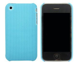 Kit Me Out US Hard Clip on Case for Apple iPhone 3GS   Light Blue Smooth Touch Textured Kit Me Out International Limited Cell Phones & Accessories