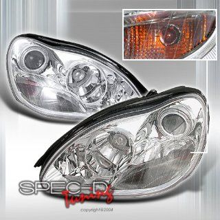 Mercedes W220 2000 2001 2002 2003 S Class LED Halo Projector Headlights   Chrome Automotive