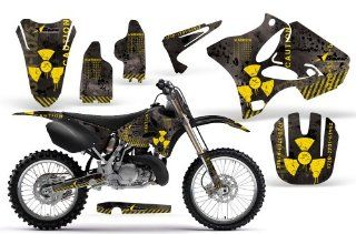 Meltdown AMRRACING MX Graphics decal kit fits Yamaha YZ 125/250 (2002 2013) Yellow Black BG Automotive