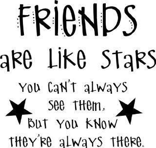Friends Are Like Stars Quotes Living Room Picture Art   Peel & Stick Vinyl Wall Decal Sticker Size  16 Inches X 16 Inches   22 Colors Available   Wall Decor Stickers