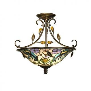 Dale Tiffany Crystal Peony Inverted Light Fixture