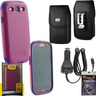 Otterbox Commuter Case Boom Purple for Samsung Galaxy S III, S3, Canvas Vertical Case that fits your phone with the Otterbox on it, Heavy Duty Car Charger & Anti Radiation Shield Cell Phones & Accessories