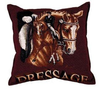 "Dressage Horse Equestrian Decorative Accent Throw Pillow 17"" x 17"""