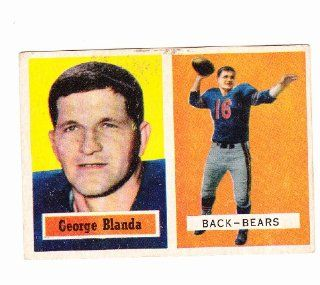 1957 George Blanda Football trading card. Chicago Bears  Sports Related Trading Cards  Sports & Outdoors