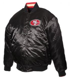 "NFL Men's San Francisco 49Ers ""Dual Edge"" Reversible Wool Jacket (Black, Small)  Sports Fan Outerwear Jackets  Clothing"