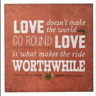 New Love Make Ride Worthwhile Plaque Western Inspirational Country Wall Art Sign   Decorative Plaques