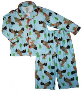 Carter's Child of Mine Infant/Toddler Boys Coat Pajama Set (24 Months, Blue Moose) Clothing