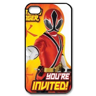 Custom Power Rangers Cover Case for iPhone 4 4s LS4 3388 Cell Phones & Accessories