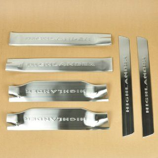 Car Threshold Door Sill Scuff Chrome Stainless Steel Cover Trim Rim for Toyota Automotive