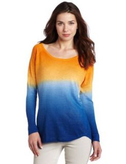 525 America Women's Dip Dye Long Sleeve Scoop Neck Sweater, Skylight Combo, X Small