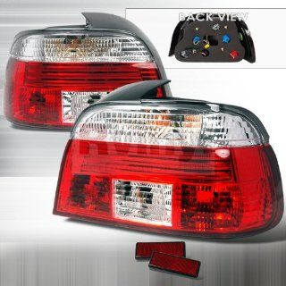 BMW E39 5 Series 540i 528i M5 1997 1998 1999 2000 Altezza Tail Lights   Clear Red Automotive