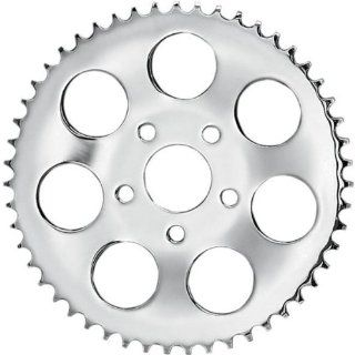 Drag Specialties Dished Rear Wheel Sprocket   Chrome   49T , Sprocket Teeth 49, Sprocket Position Rear, Color Chrome, Material Steel, Sprocket Size 530 17512P BX20 Automotive