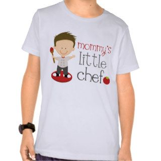 Mommy's Little Chef Kids Cartoon Cooking Tee Shirt