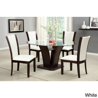 Furniture Of America Furniture Of America Gale 5 piece Two tone Glass And Cherrywood Dining Set Cherry Size 5 Piece Sets