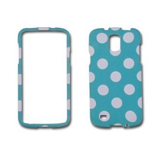 Turquoise Polka Dot Samsung Galaxy S4 Active / I9295 / Sgh i537 Skin Hard Case/cover/faceplate/snap On/housing/protector Cell Phones & Accessories