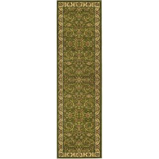 Lyndhurst Collection Sage/ Ivory Polypropylene Runner Rug (23 X 14)