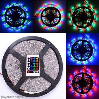 Generic Strip kit LED Light Strip 3528 5M Smd Waterproof RGB Color 300 Leds 12V Input with 24 Key IR Remote Controller Musical Instruments