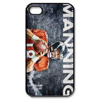 Broncos logo Peyton Manning poster designs hard back case for iPhone 4 4s Cell Phones & Accessories