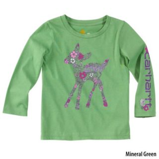 Carhartt Toddler Girls Long Sleeve Deer T Shirt 731072