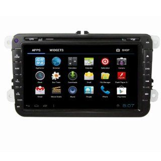 8 Inch 2 Din Car DVD Player For Volkswagen/VW TOURAN(2006 2012), Android 4.0 System&DVD&GPS Navigation& Bluetooth & Digital TV(ATSC)&3G&WIFI&PIP&IPOD Function(Free 3G and WIFI dongle)  Vehicle Dvd Players