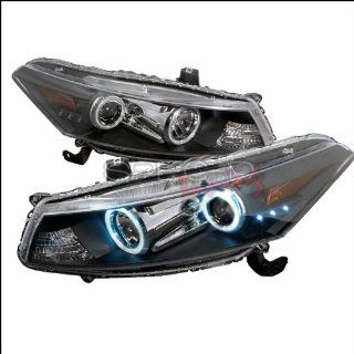 Honda Accord Coupe 2008 2009 CCFL LED Halo Projector Headlights   Black Automotive