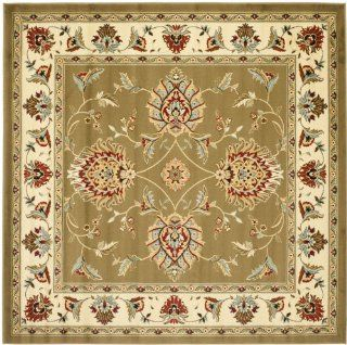Safavieh Lyndhurst Collection LNH555 5212 Green and Ivory Square Area Rug, 6 Feet 7 Inch