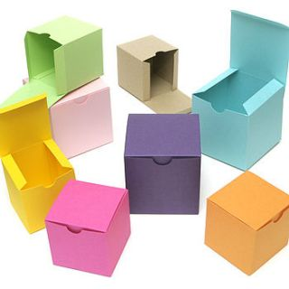 colourful favour gift box by peach blossom